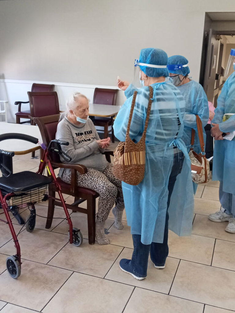 Festus Manor Tuesday Communion with Residents