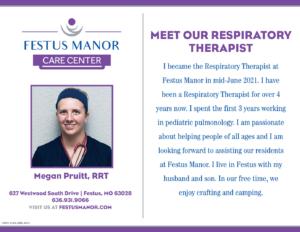 Festus Manor_Meet Our Respiratory Therapist_Megan Pruitt_v2